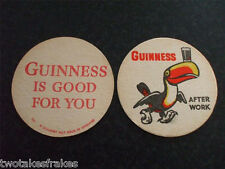 Guinness Beermat A Quarmby Mat No 123 c. 1963 After Work Had Your Guinness Today