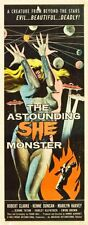 Astounding She Monster The 14x36 Insert Movie Poster Replica