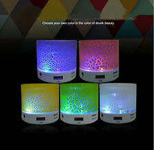 Colorful Multi flashing LED Light Wireless Bluetooth Speakers Stereo Handfree