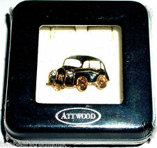 ATTWOOD & SAWYER 22ct GOLD PLATED/SWAROVSKI TAXI CAB BROOCH (#2) (New/Boxed/Sld)