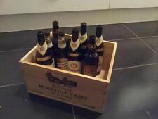 1 X RECYCLING BOX / BIN FOR GLASS - FRENCH RETRO CHIC GENUINE WOODEN WINE CRATE