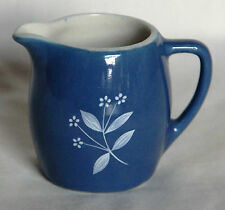 Vintage Miniature Glossy Blueware Jug -  New Devon Pottery