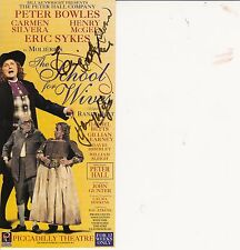 MULTI SIGNED THEATRE FLYER FOR THE SCHOOL FOR WIVES