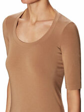 NEW WOLFORD Como Seamless SHIRT TOP PULLOVER Size: Small Color: Latte 56155 -44