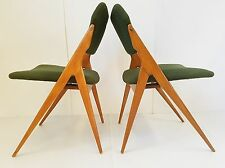 GIO PONTI : PAIRE DE CHAISES 1950 VINTAGE DESIGN ORGANIQUE 50S ROCKABILLY CHAIRS