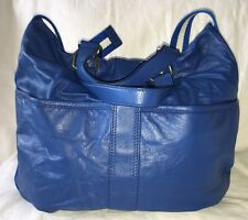 MARC JACOBS Blue Leather Convertible Drawstring Purse Bag-NEW