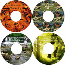 Shamanic Drumming Native American Music Woodland Bridleway Babbling Brook 4 CDs