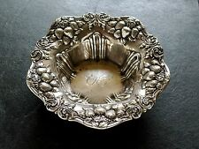Woodside Sterling Silver Strawberry Pattern Repousse Bowl c1900 74gr 5.5''