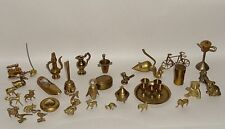 Lot Vintage Country Treasures England Brass Animals  Miniature Collectibles