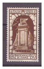 REGNO 1934  - POSTA AEREA  ANNESSIONE  FIUME   CENTESIMI  50   -  NUOVO **