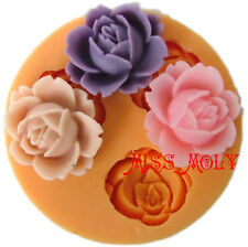 3D Silicone Flower Fondant Candy Cake Chocolate Soap Decorating DIY Mould UK2
