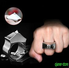 Outdoor Self-defense Waistline Ring Tungsten Steel Head Anti-wolf Broken Ring