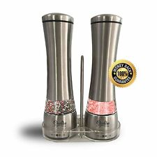 Ecoline Home Stainless Steel Salt And Pepper Grinder Set-Set Of 2 Manual Mill...