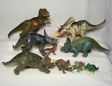 Jurassic Park Triceratops Herd Lot + Electronic T-rex Hatchlings Working