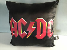 New With Tag Official AC/DC Merchandise Classic AC/DC Logo Black Satin Cushion