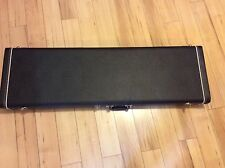 Fender Jazz Bass Hardshell Case  Black Black Plush Interior -#17