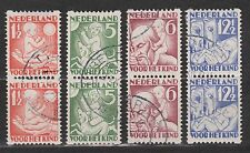 Roltanding nr 86-89 used pairs paren NVPH Nederland Netherlands syncopated
