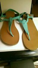 OLD NAVY TEAL SANDALS WOMENS 9 GENTLY WORN
