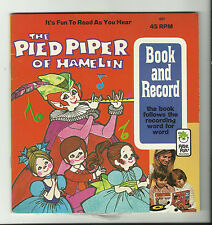 PETER PAN The Pied Piper of Hamelin {1957} BOOK AND RECORDING Record 45