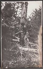 VINTAGE 1919 OHIO YOUNKER SAW MILL LOGGING LUMBER 2 MEN ON CROSSCUT SAW PHOTO