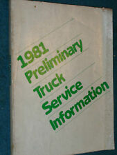 1981 DODGE TRUCK & VAN EARLY SHOP MANUAL / PRELIMINARY SHOP BOOK / ORIGINAL!!!