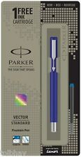 Parker Vector Standard CT Fountain Pen (Blue Ink & Blue Body) 100% Original