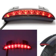 US Smoke Motorcycle Rear Fender LED Brake Tail Light for Harley Softail Slim FLS