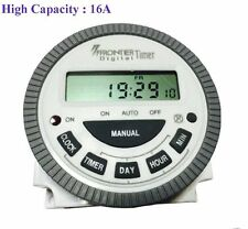High Capicity 16A Digital  programmable Frontier Timer Switch (TM619-2) 4 Pin