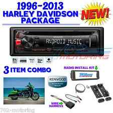 96-2013 HARLEY TOURING INSTALL ADAPTER FLHT STEREO RADIO FLHTC CD DASH KIT FLHX