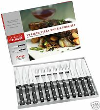 Juge SABATIER 12 pièces inox steak knife & fork box set iv42