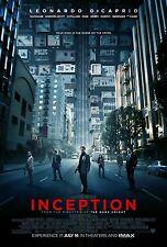 INCEPTION Leonardo DiCaprio Christopher Nolan Original D/S Rare Movie Poster
