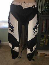 Boy's Fox Racing 180 Racing Moto Racing Pant Size 12 14 28, White/ Black NW/out