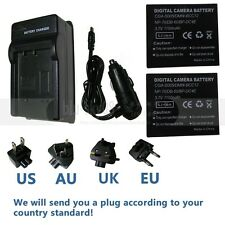 2X Battery +Charger for Leica C-Lux 1,D-Lux 2,D-Lux 3,D-Lux 4,DLux 4  Camera