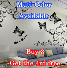 Butterfly Feifei Flower Wall Stickers Decal Removable Art Vinyl Decor Home Au