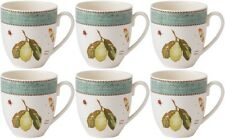 WEDGWOOD SARAHS GARDEN (GREEN) 6 MUGS 0.5Ltr/17oz - NEW/UNUSED (SARAH'S)