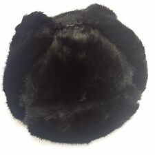 Bomber Trapper Men's Russian Winter Faux Mink Fur Pilot Aviator Ear Flaps Hat