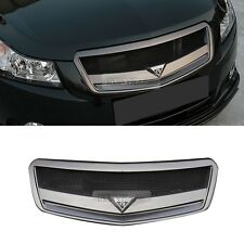 Radiator Hood Mesh Grill Matte Black With R Emblem for 2008-2012 Chevrolet Cruze