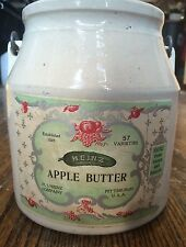 Heinz Apple Butter Jelly Stoneware Crock - Vintage 1900