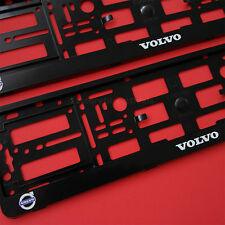 New Pair Volvo Number Plate Surrounds Holder Frame For Volvo Cars and 4x4