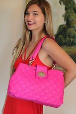 KATE SPADE NY ASTOR COURT ELENA HOT PINK FUSCHIA BAG QUILTED LEATHER HANDBAG