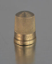 10K GOLD VINTAGE 3D SEWING THIMBLE YEAR 1943