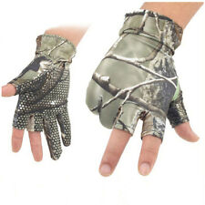 Camo Half Finger Fishing Bicycle Exercise Outdoor Quick Drying Gloves Non Slip