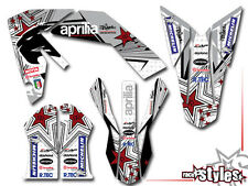 APRILIA SXV RXV MXV, 450 550, 06-15, SUPERMOTARD VDB-SILVER-Edition DECAL DECORO
