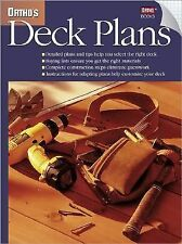Ortho's Deck Plans 1998 Paperback 12 Detailed Plans W/ Clear Instructions - NEW