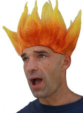 FLAME WIG Fiery Flame Heads and Fire Wigs Inside Out Anger Costume Wigs