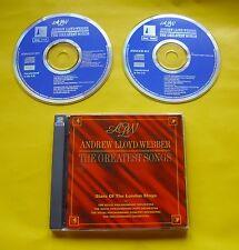 "2 CDs "" ANDREW LLOYD WEBBER - THE GREATEST SONGS "" BEST OF / 30 HITS (MEMORY)"