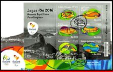 16-132F BRAZIL 2016 PARALYMPIC GAMES, RIO 2016, ARENAS, STADIUMS, UPAEP, FDC