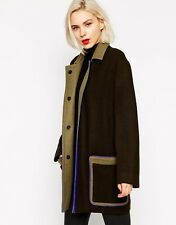 L.A.M.B lamb Gwen Stefani Shetland Wool Coat with Contrast Framing 4