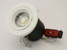 10 x Fire Rated White FOR GU10  LED Bulb Recessed Ceiling Downlights JCC