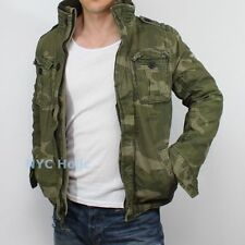 New Abercrombie & Fitch by Hollister Hoffman Mountain Jacket Camo Coat Medium